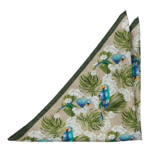 ARAGRID Khaki pocket square