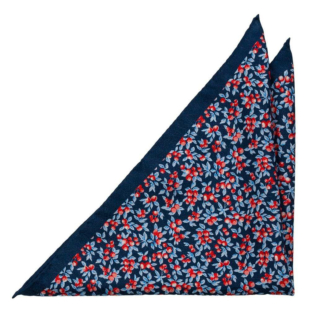 BACCARINO Navy blue pocket square
