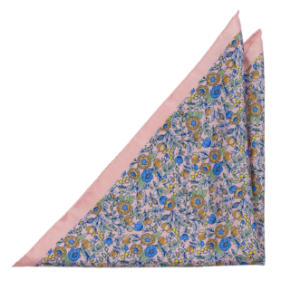 GEMMAGIA Blush pink pocket square