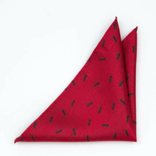 ANTBARON Red pocket square