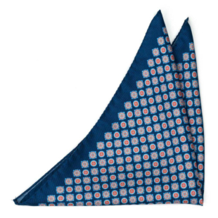 ARAZZO Navy blue pocket square