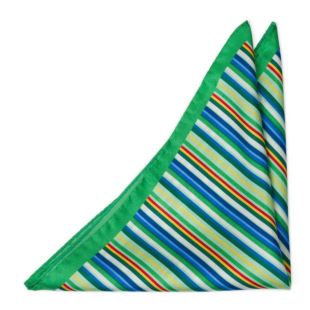 ARCOBALENO Green pocket square