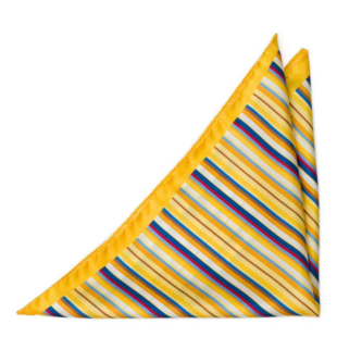 ARCOBALENO Yellow pocket square