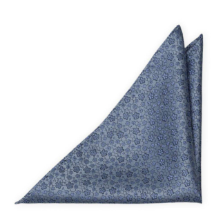 AUGURI Dusty blue pocket square