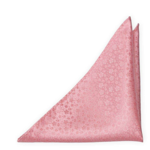 AUGURI Pale pink pocket square