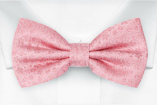 AUGURI Pale pink bow tie