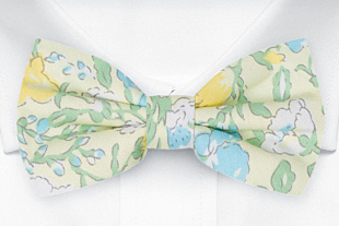 BABIOLE Yellow bow tie