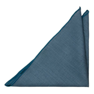 BASKETVEIL Blue pocket square