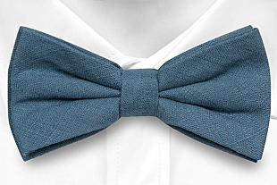 BASKETVEIL Blue bow tie