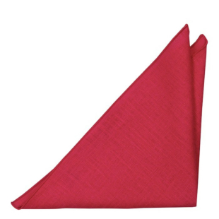 BASKETVEIL Red pocket square