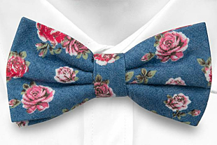 BELLBOTTOM Rose pre-tied bow tie