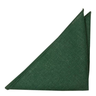 BITTERSWEET Dark green pocket square
