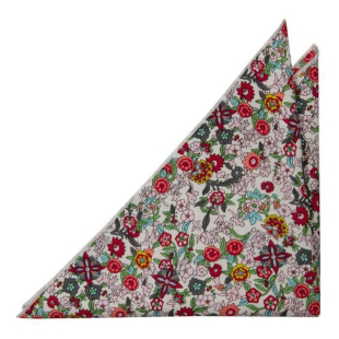 BLOOMDANCE White pocket square