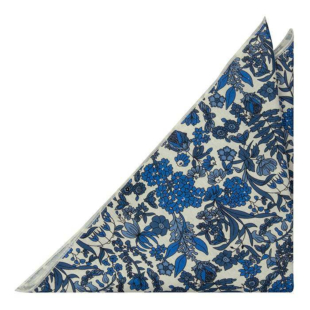 BLUEBREW White pocket square