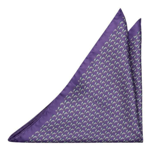 BOCCAGLIO Purple pocket square