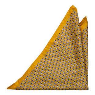BOCCAGLIO Yellow pocket square