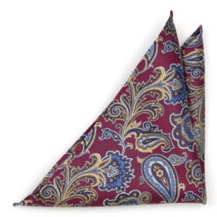 BOFFOLA Dark red pocket square