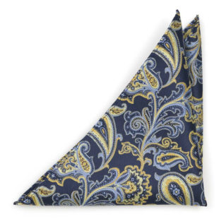 BOFFOLA Navy pocket square