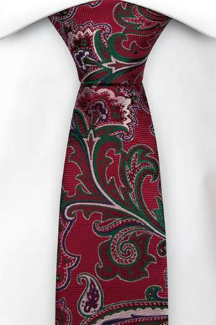 BOFFOLA Red skinny tie