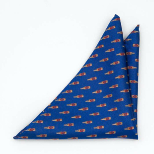BREWSKI Blue pocket square