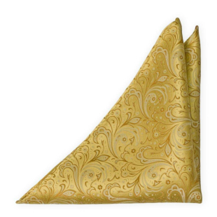 BRIDALLY Golden yellow pocket square