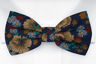 BRONZERING Dark blue bow tie
