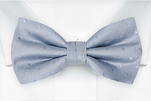 BRUDGUM Light blue bow tie