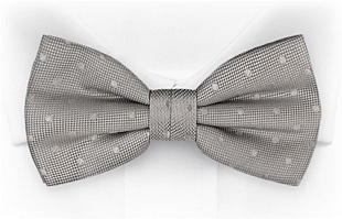 BRUDGUM Light grey bow tie