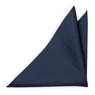 BRUDGUM Navy blue pocket square