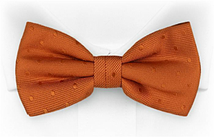 BRUDGUM Orange bow tie
