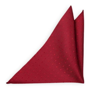 BRUDGUM Red pocket square