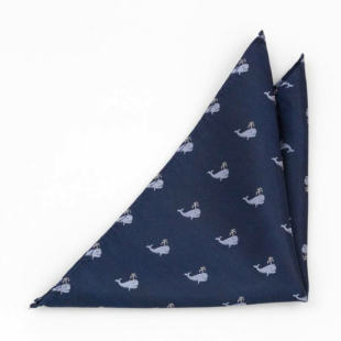 CACHALOT Blue pocket square