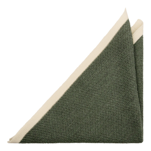 CHILLA Green pocket square