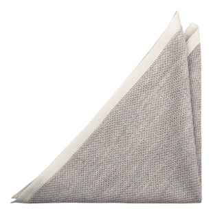 CHILLA Grey pocket square