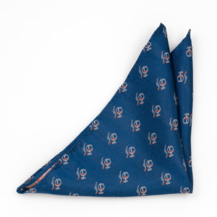 CIGOBLET Blue pocket square