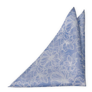 CORSAGE Sky blue pocket square