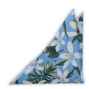 CRIBABY Light blue pocket square