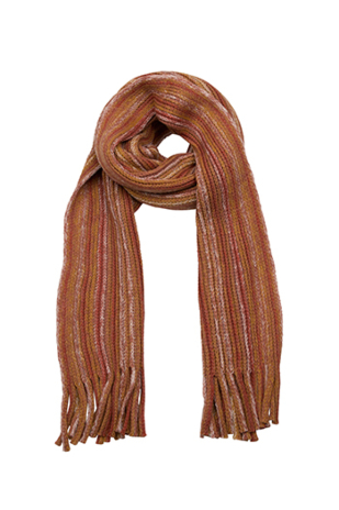 DANDIMPEN Orange fire scarf