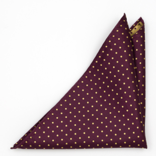 DOTBLAST Burgundy pocket square