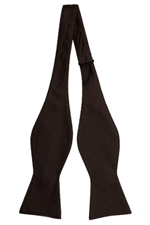 DRUMMEL BROWN self-tie bow tie