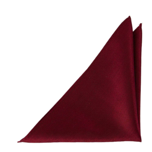 DRUMMEL DARK RED pocket square