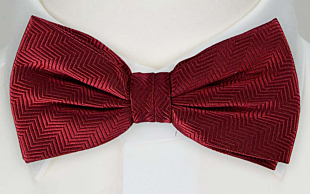 DRUMMEL DARK RED bow tie