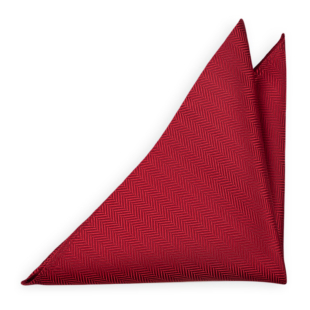DRUMMEL Red pocket square