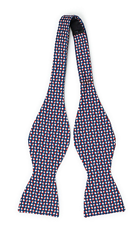 ECLISSI Red self-tie bow tie