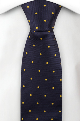 FESTLIG NAVY/YELLOW skinny tie