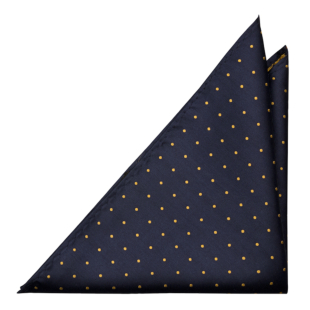 FESTLIG NAVY/YELLOW pocket square