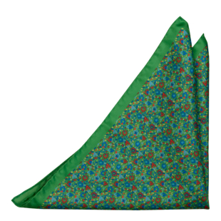 FLORIDO Green pocket square