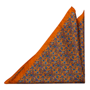 FLORIDO Orange pocket square