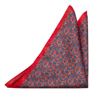 FLORIDO Red pocket square