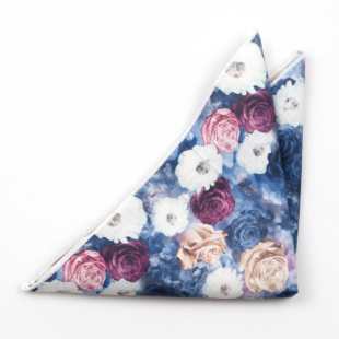 FLORONUBO Blue pocket square